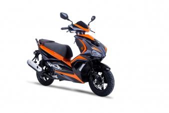 Roller / Moped Siegfried 50ccm 45km/h schwarz / orange Bild 3