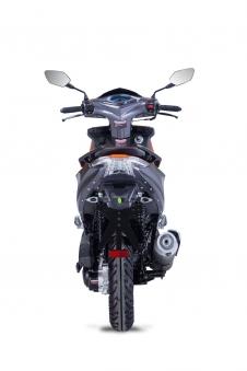 Roller / Moped Siegfried 50ccm 45km/h schwarz / orange Bild 5
