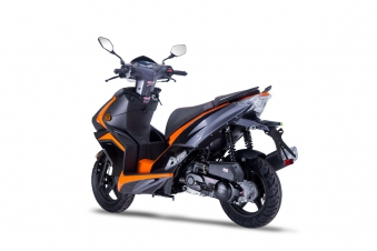 Roller / Moped Siegfried 50ccm 45km/h schwarz / orange Bild 6