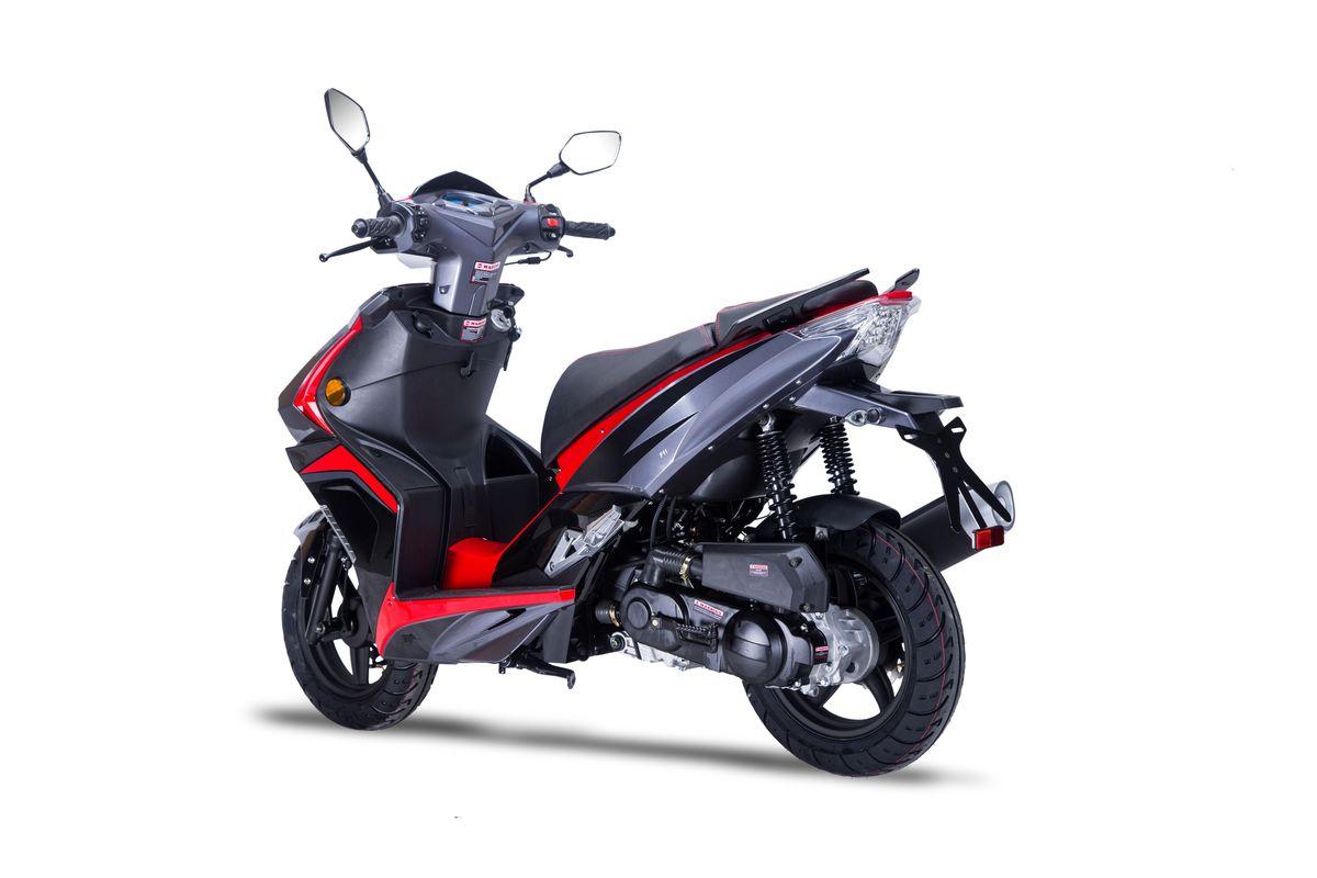Roller / Moped Siegfried 50ccm 45km/h schwarz / rot Bild 2