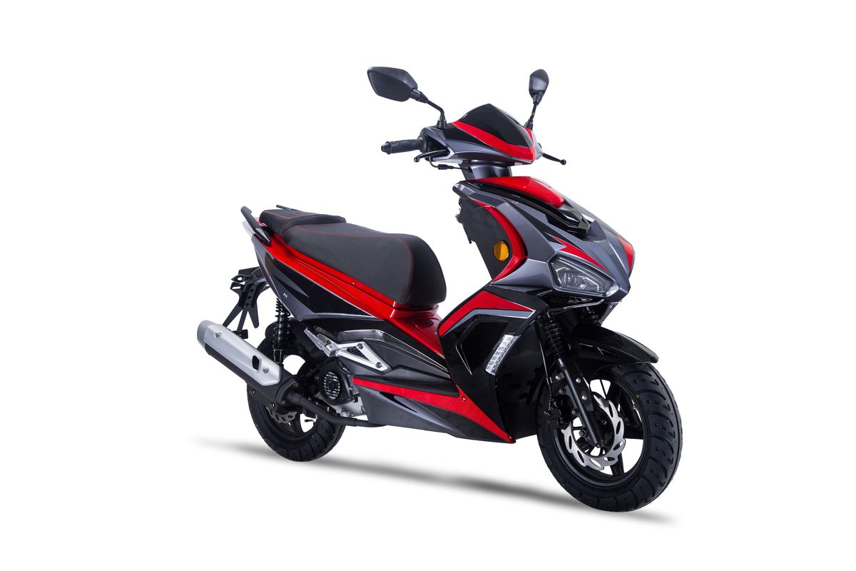 Roller / Moped Siegfried 50ccm 45km/h schwarz / rot Bild 3