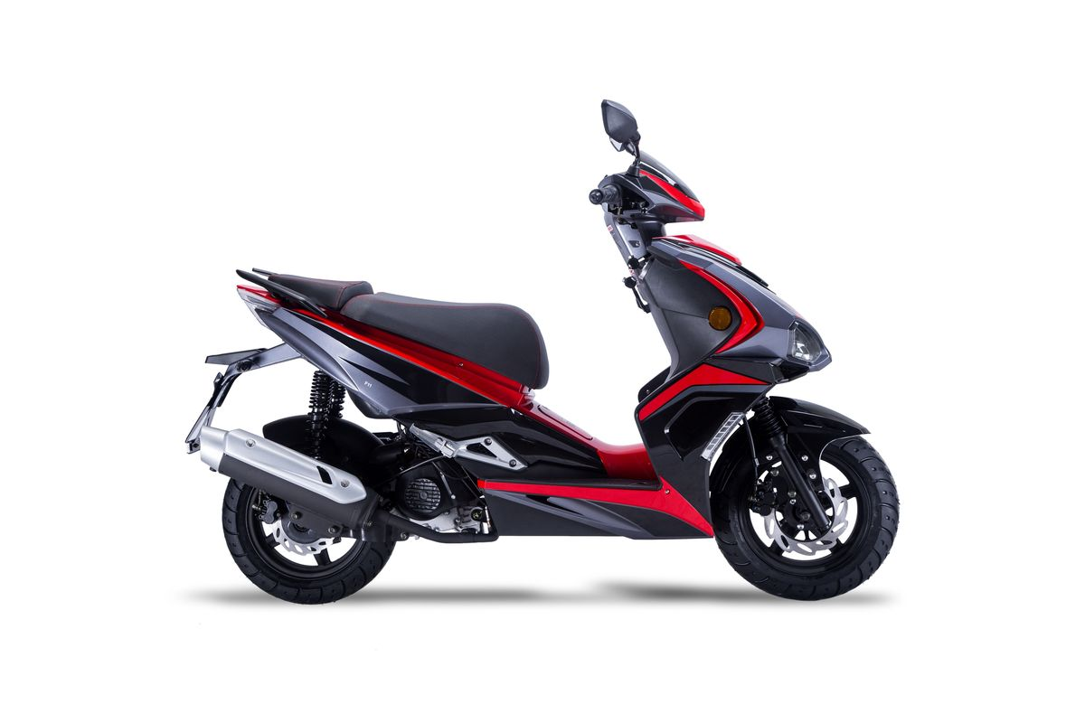 Roller / Moped Siegfried 50ccm 45km/h schwarz / rot Bild 4