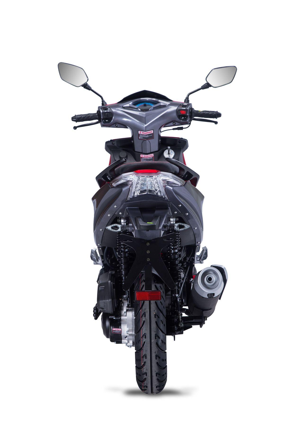 Roller / Moped Siegfried 50ccm 45km/h schwarz / rot Bild 5