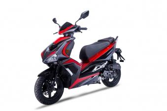 Roller / Moped Siegfried 50ccm 45km/h schwarz / rot Bild 1