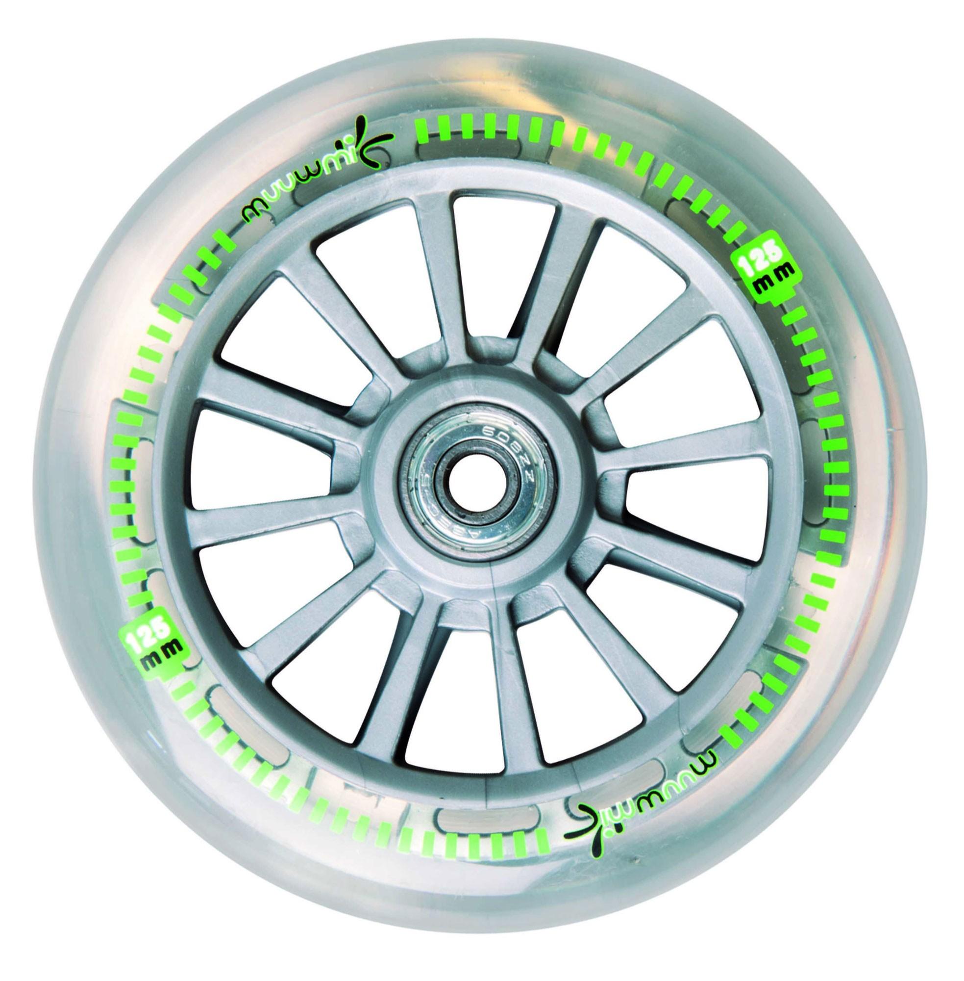 Alu Scooter / Cityroller Muuwmi 125 Neon grün schwarz Bild 2