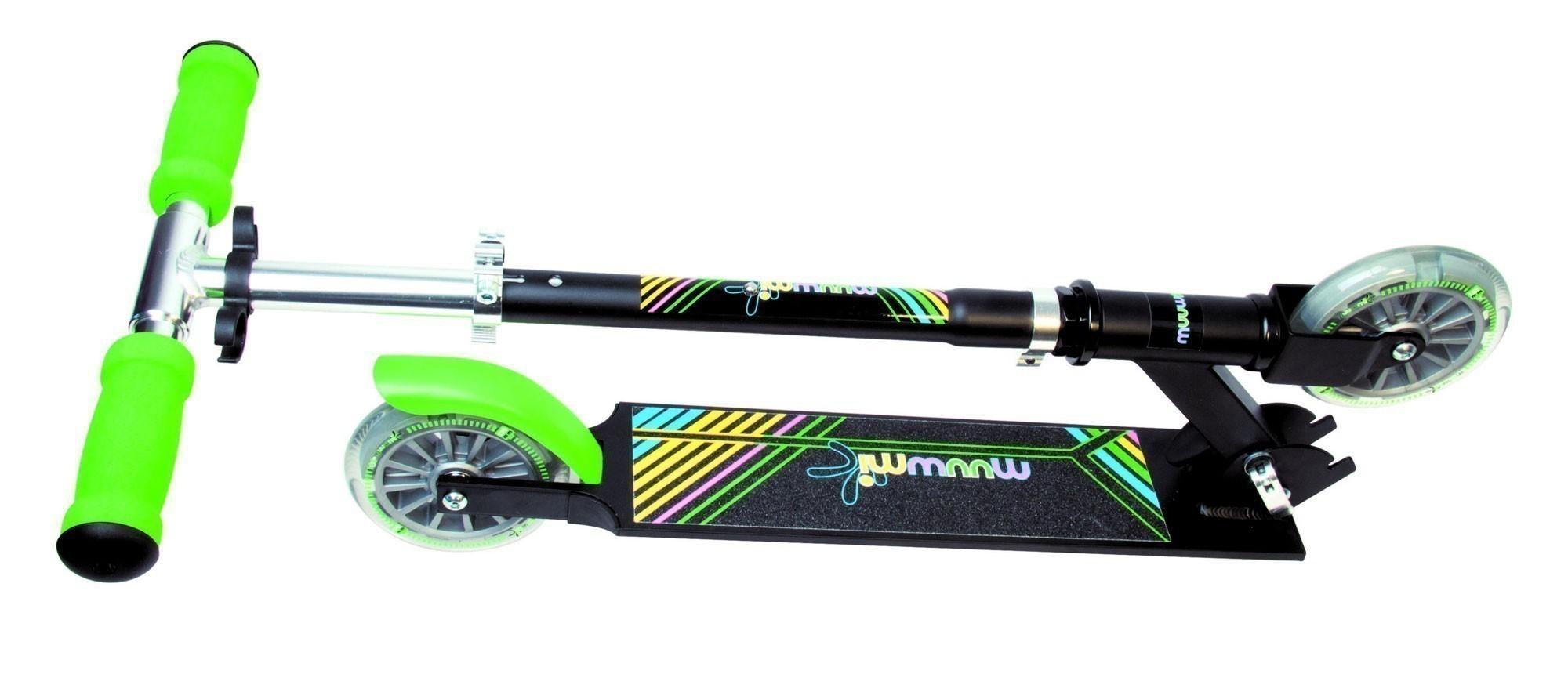 Alu Scooter / Cityroller Muuwmi 125 Neon grün schwarz Bild 3
