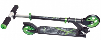 Alu Scooter / Cityroller Muuwmi 125mm schwarz-grün Bild 2