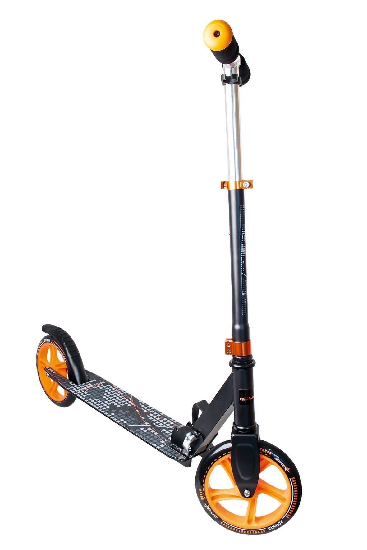 Alu Scooter / Cityroller Muuwmi 200mm schwarz-orange Bild 1
