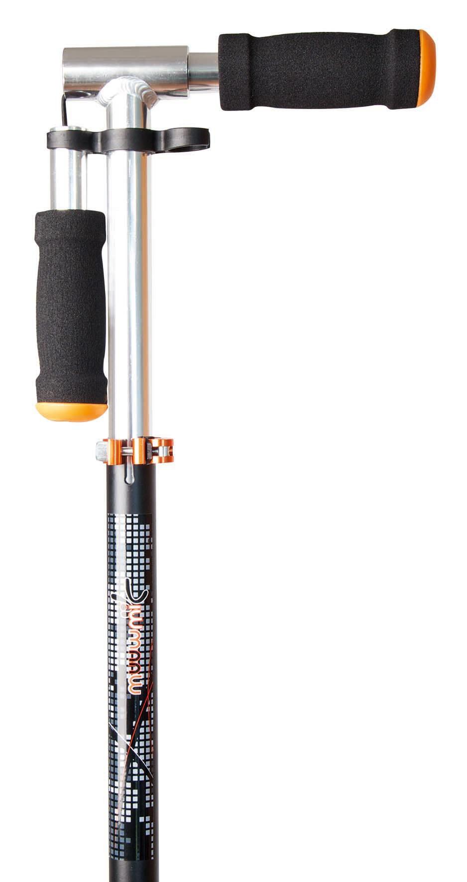 Alu Scooter / Cityroller Muuwmi 200mm schwarz-orange Bild 3