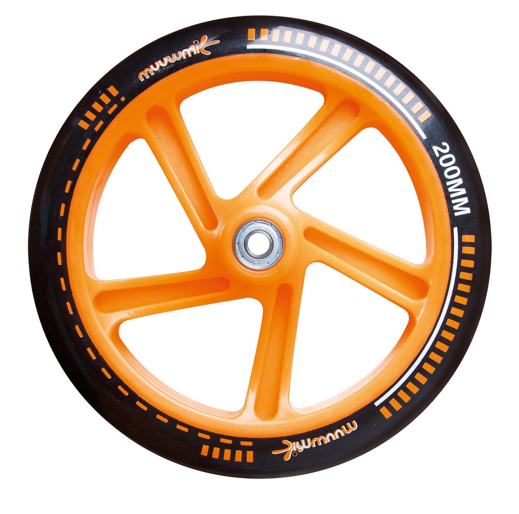 Alu Scooter / Cityroller Muuwmi 200mm schwarz-orange Bild 4
