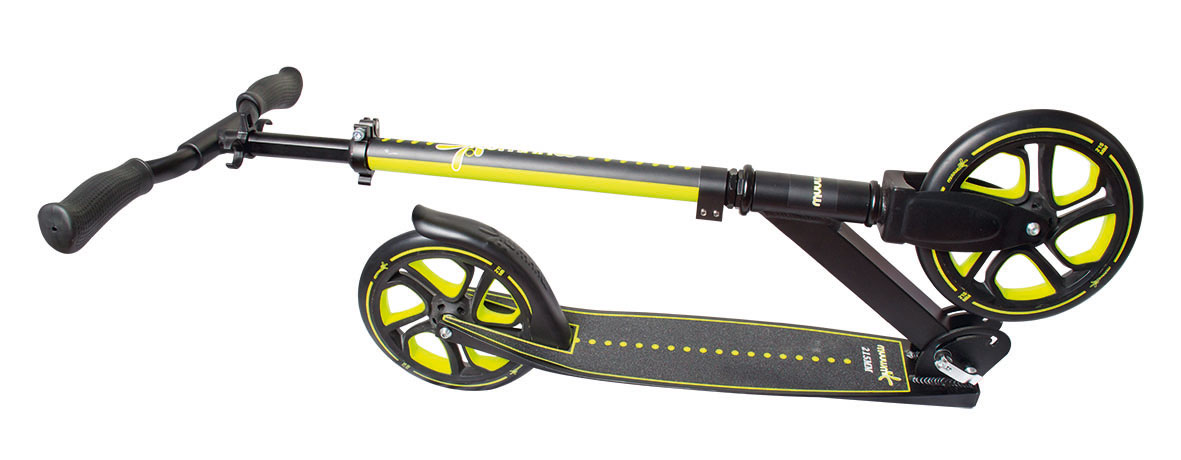 Alu Scooter / Cityroller Muuwmi Pro 215 mm lime-grün Bild 2