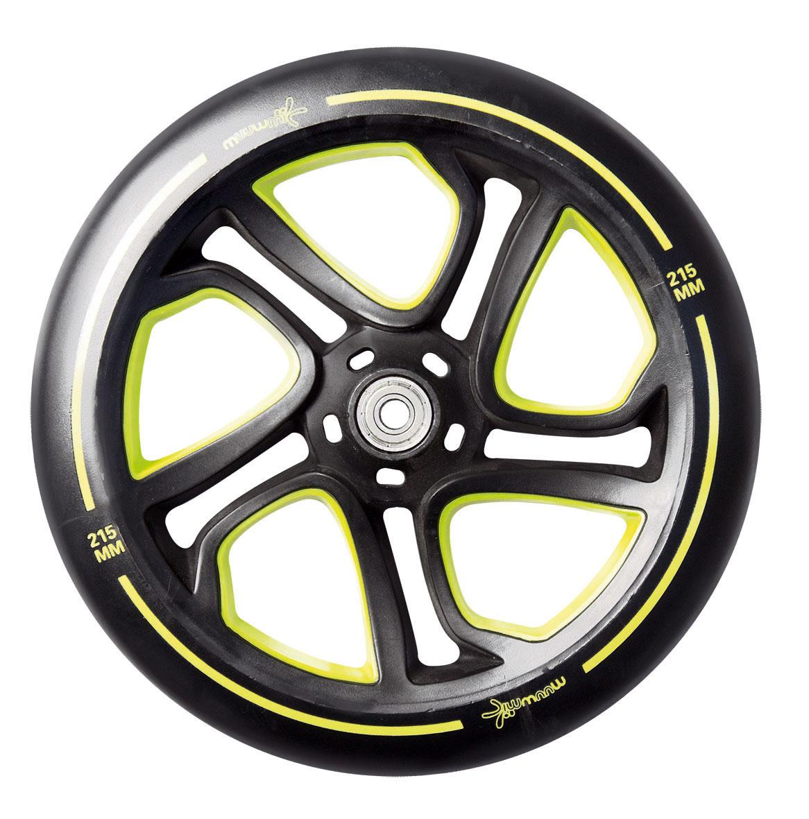 Alu Scooter / Cityroller Muuwmi Pro 215 mm lime-grün Bild 3