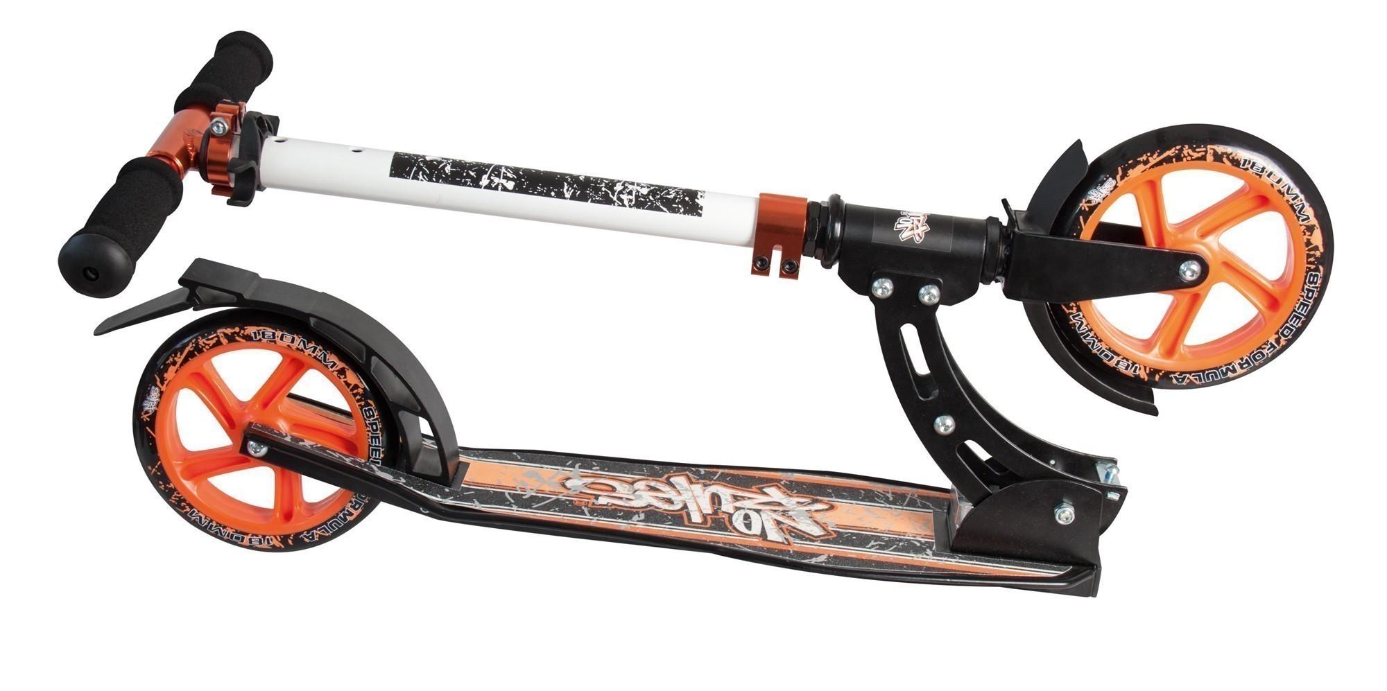 Alu Scooter / Cityroller No Rules 180 orange schwarz Bild 2
