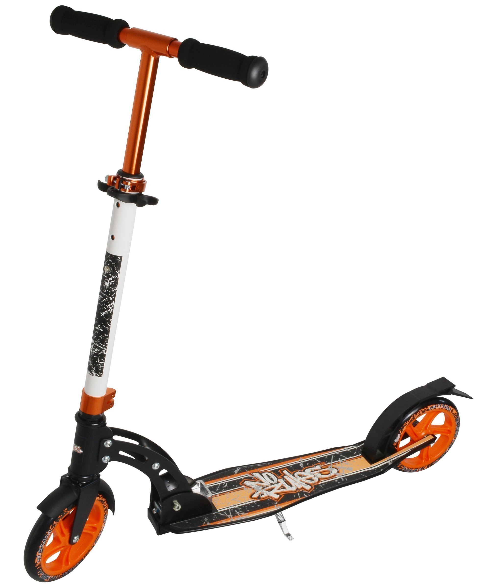 Alu Scooter / Cityroller No Rules 180 orange schwarz Bild 4