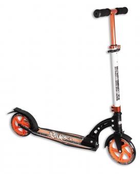 Alu Scooter / Cityroller No Rules 180 orange schwarz Bild 1