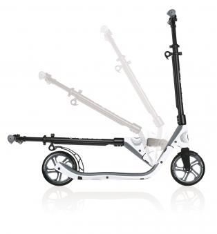 Cityroller / Alu Scooter Globber One NL 205 weiß Bild 3