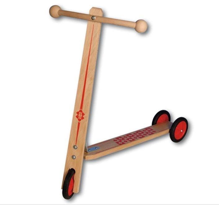 Kinderroller/Tretroller Holz Bild 1