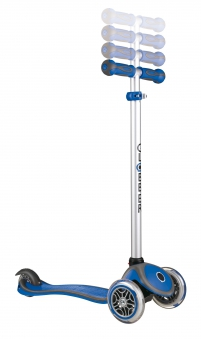 Scooter Kinderroller Dreirad Laufrad Globber Evo Comfort 5in1 blau Bild 4