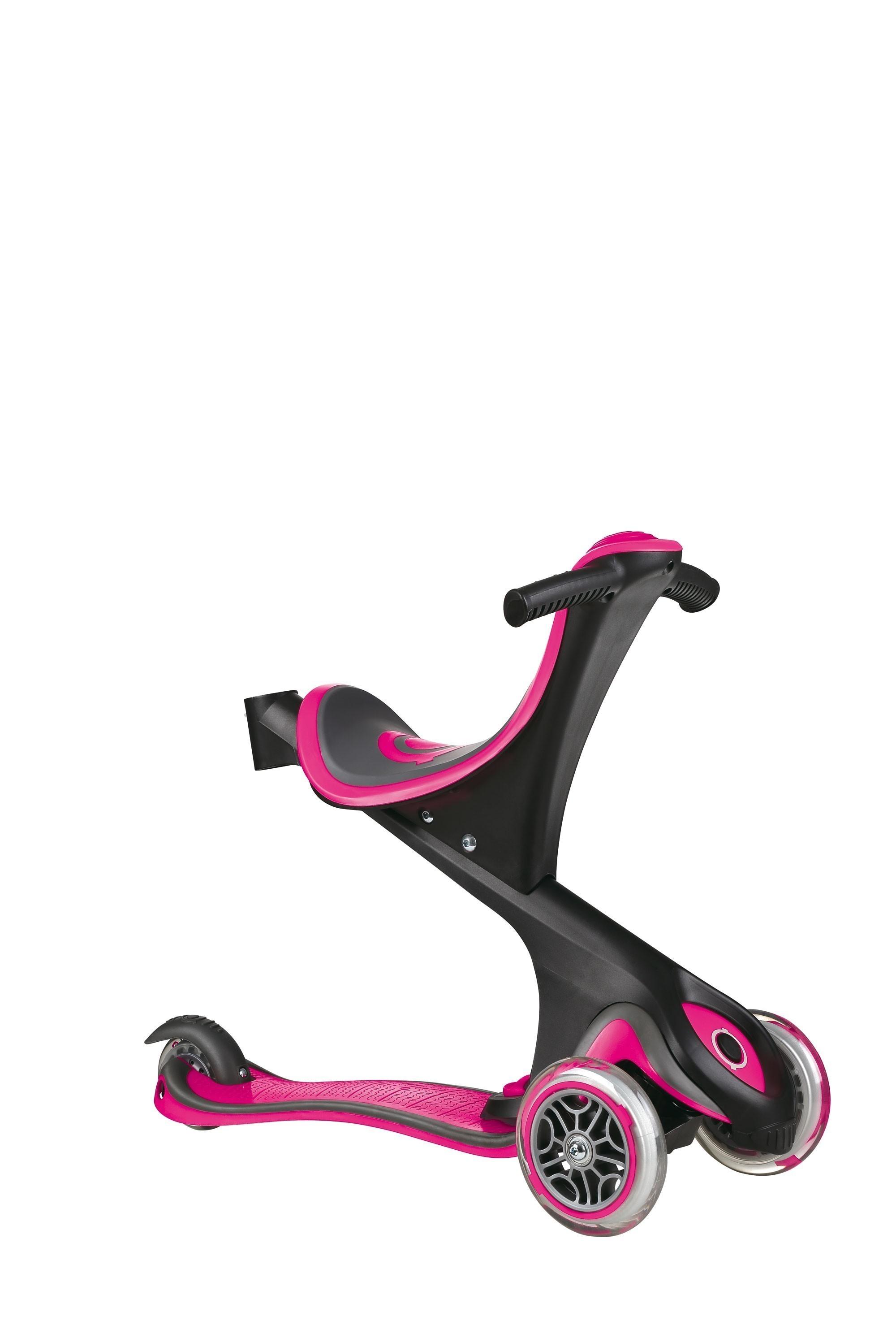 Scooter Kinderroller Dreirad Laufrad Globber Evo Comfort 5in1 pink Bild 4