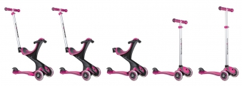 Scooter Kinderroller Dreirad Laufrad Globber Evo Comfort 5in1 pink Bild 5