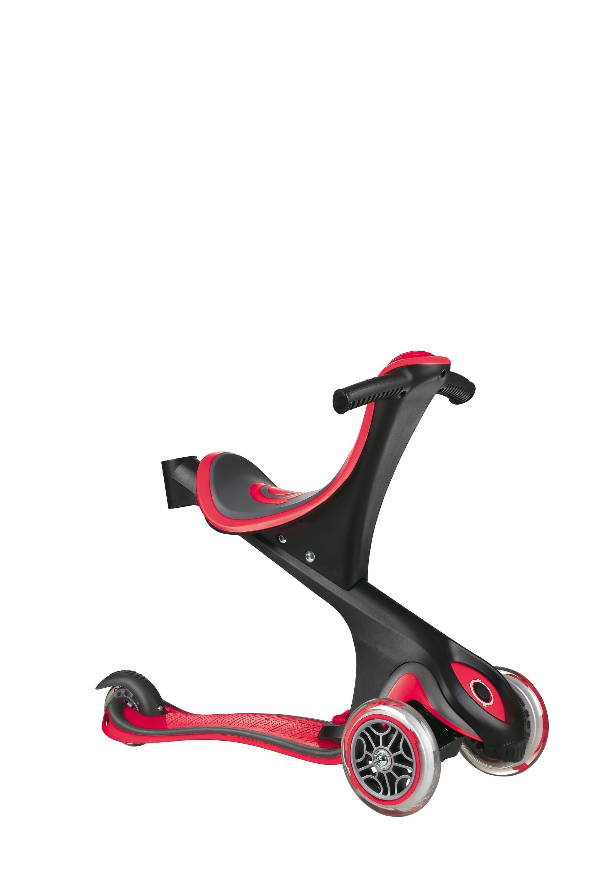 Scooter Kinderroller Dreirad Laufrad Globber Evo Comfort 5in1 rot Bild 2