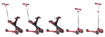 Scooter Kinderroller Dreirad Laufrad Globber Evo Comfort 5in1 rot Bild 5