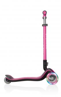 Scooter Kinderroller Globber Elite Deluxe Scooter pink +Leuchtrollen Bild 4
