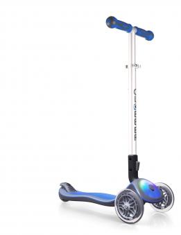 Scooter Kinderroller Globber Elite flash light navy-blau Bild 1