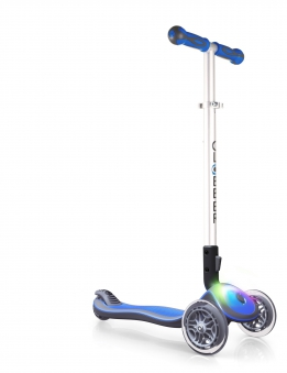 Scooter Kinderroller Globber Elite flash light navy-blau Bild 2