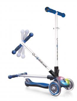 Scooter Kinderroller Globber Elite flash light navy-blau Bild 3