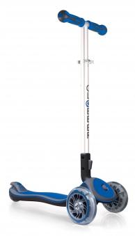 Scooter / Kinderroller Globber MY FREE Fold UP blau-grau Bild 1
