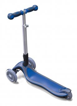 Scooter / Kinderroller Globber MY FREE Fold UP blau-grau Bild 2