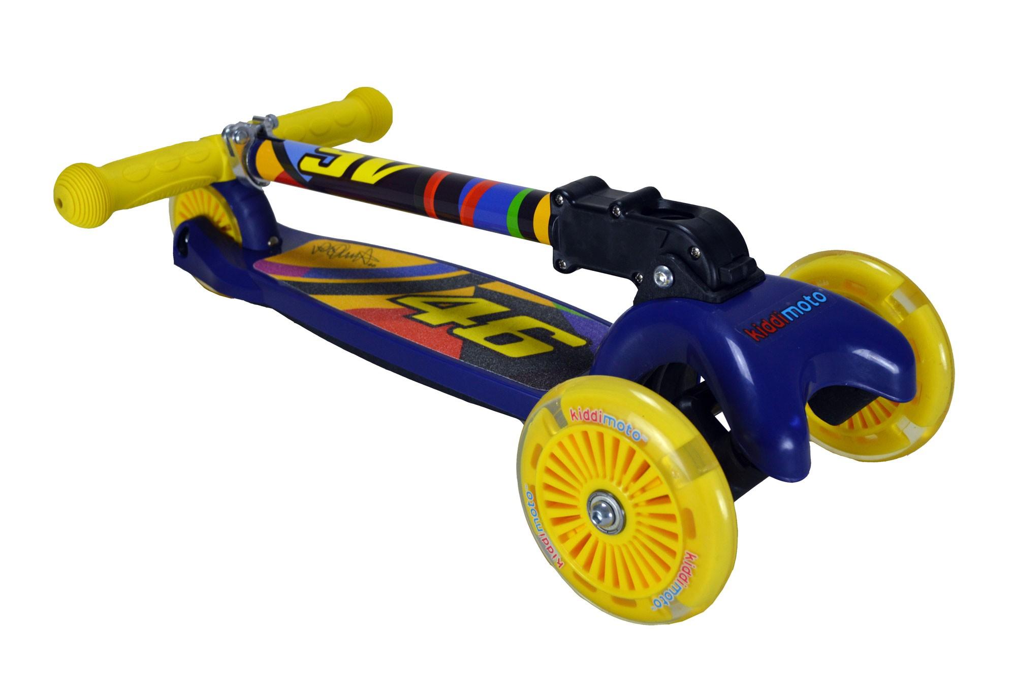 kiddimoto Scooter / Kinderroller U-Zoom Scooter LED Valentino Rossi Bild 3