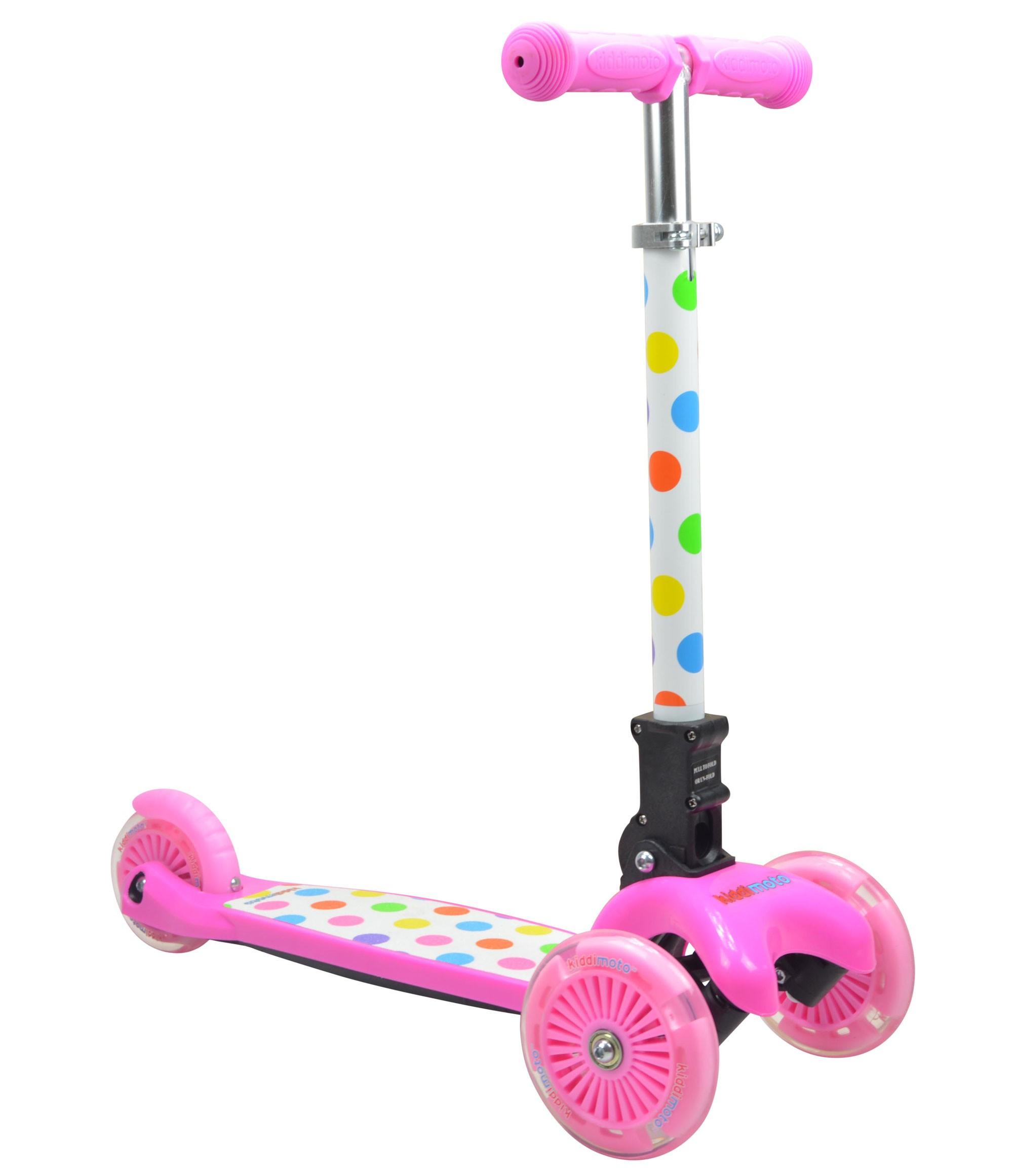 kiddimoto Scooter / Kinderroller U-Zoom Scooter klappbar Pastel Dotty Bild 1