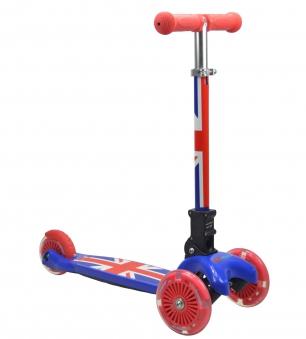 kiddimoto Scooter / Kinderroller U-Zoom Scooter klappbar Union Jack Bild 1
