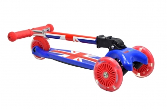 kiddimoto Scooter / Kinderroller U-Zoom Scooter klappbar Union Jack Bild 3