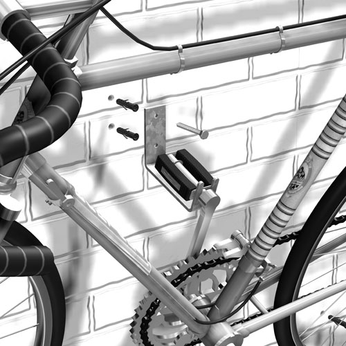 GAH Alberts Sportgerätehalter / Wandhalter für Fahrrad Bild 2