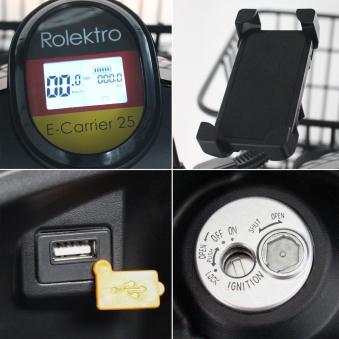 Rolektro Elektroroller Dreirad  Lastenroller E-Carrier Bild 5