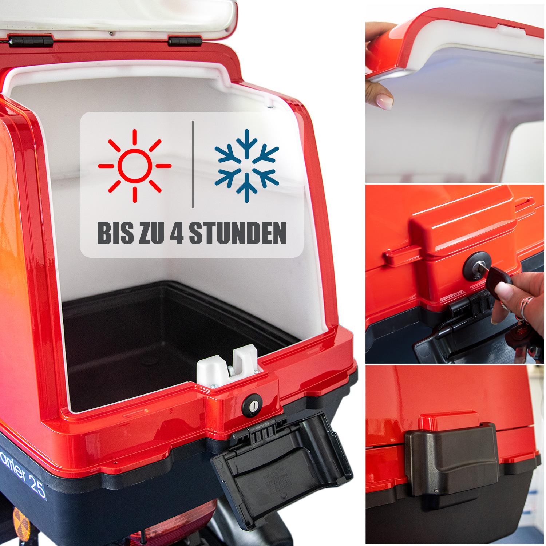Rolektro Elektroroller Dreirad Lastenroller mit Transportbox E-Carrier Bild 3