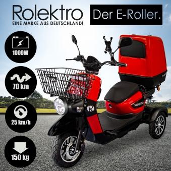 Rolektro Elektroroller Dreirad Lastenroller mit Transportbox E-Carrier Bild 4