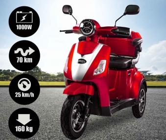 Rolektro Seniorenmobil 1000/30 Elektromobil / Trike rot Bild 3
