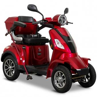 Seniorenmobil 4-Räder Elektromobil Elektroroller Rolektro 4/1000 rot Bild 1