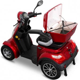 Seniorenmobil 4-Räder Elektromobil Elektroroller Rolektro 4/1000 rot Bild 2