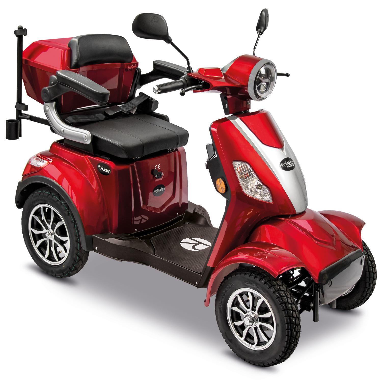 Seniorenmobil Elektromobil 15KM/H rot Rolektro Quad 15 V3LI Bild 1