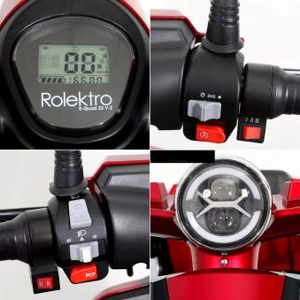 Seniorenmobil Elektromobil 15KM/H rot Rolektro Quad 15 V3LI Bild 3