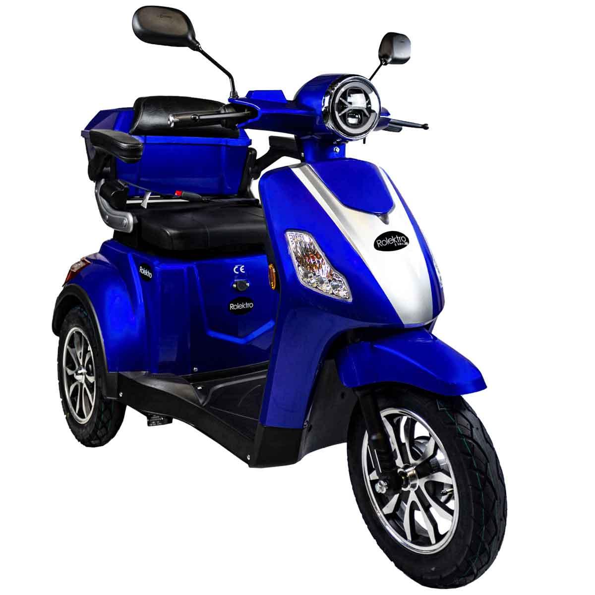 Seniorenmobil, Elektromobil, Elektrodreirad Rolektro 1000/30 blau Bild 1