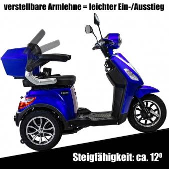 Seniorenmobil, Elektromobil, Elektrodreirad Rolektro 1000/30 blau Bild 4