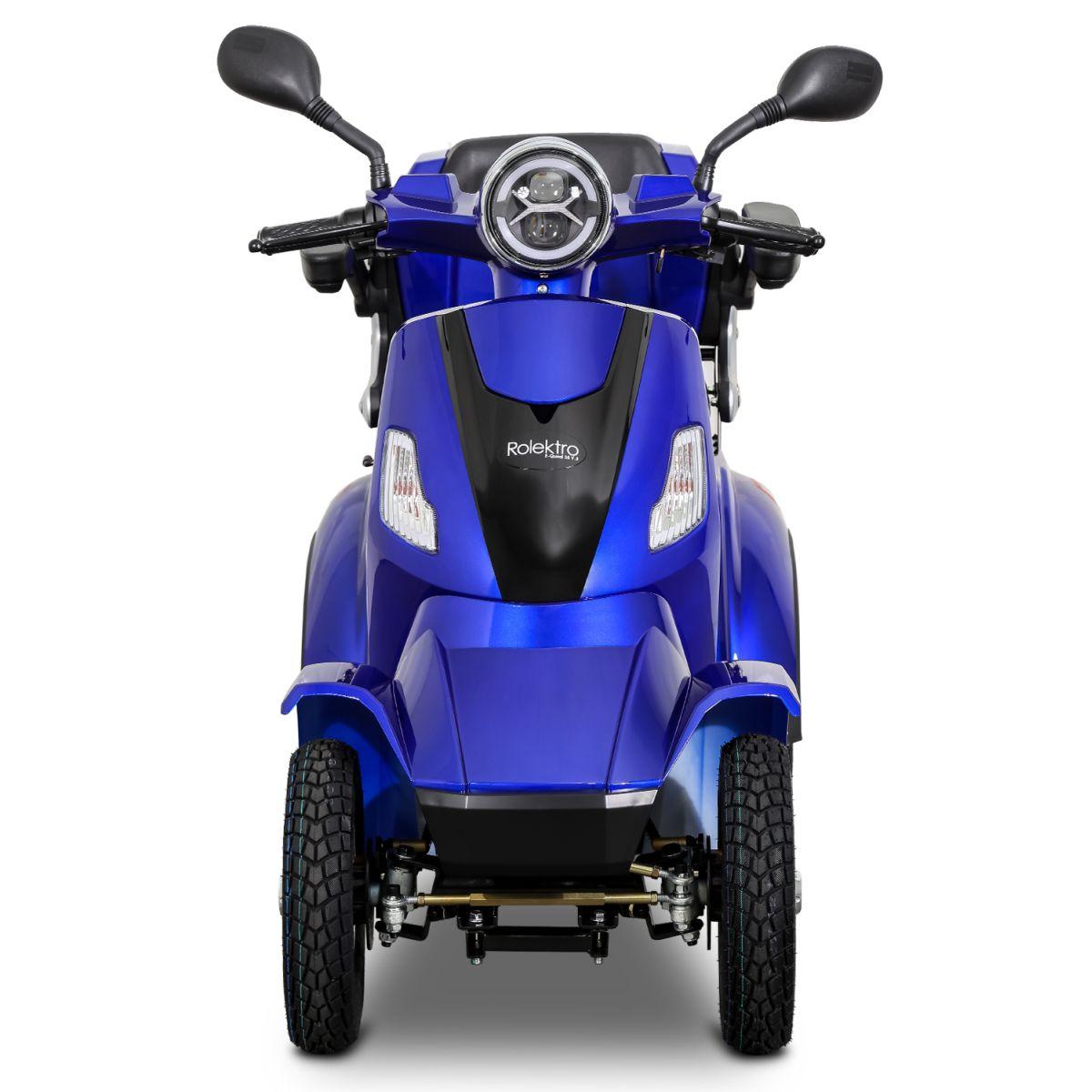 Seniorenmobil Elektromobil Elektroroller Rolektro Quad 25BG blau Bild 1