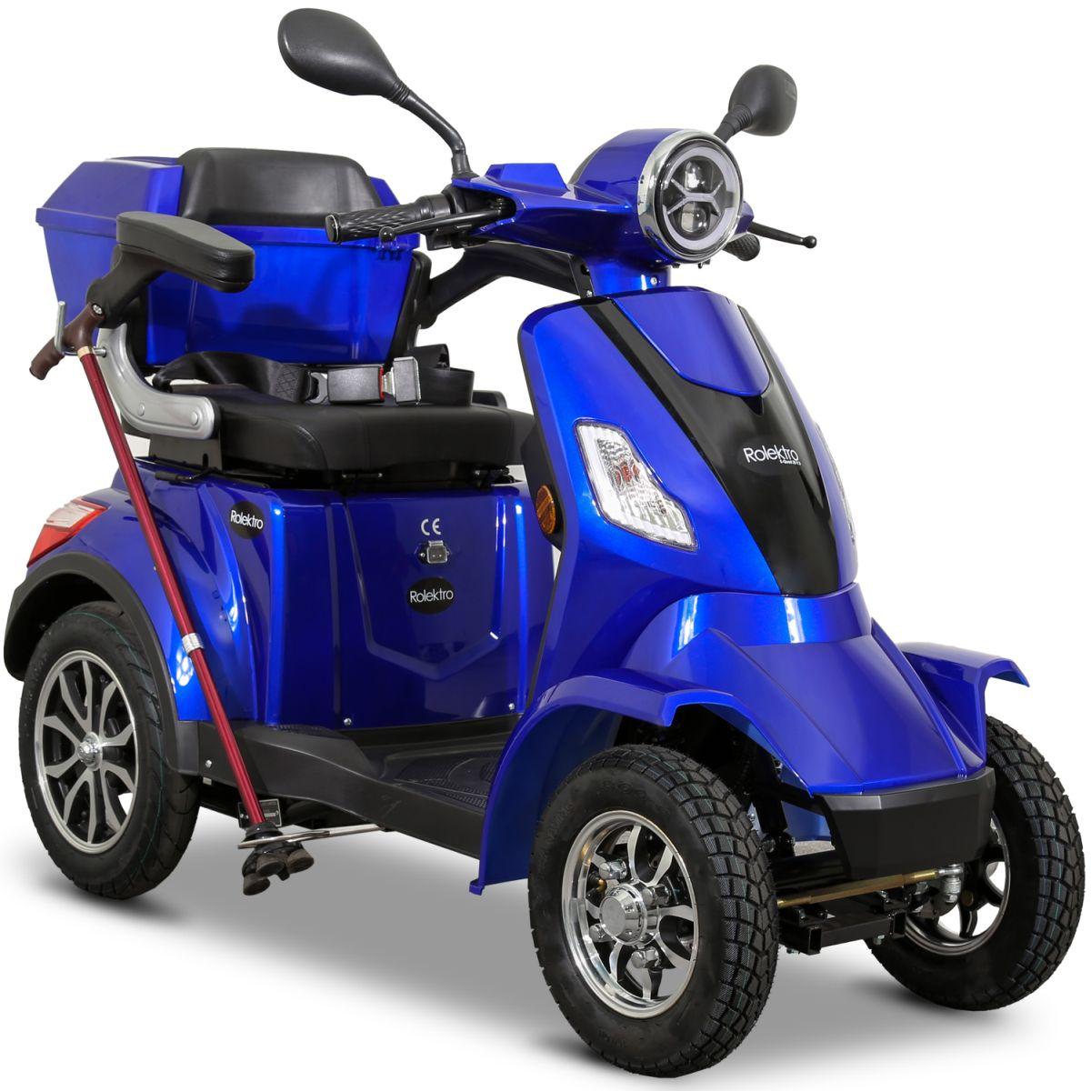 Seniorenmobil Elektromobil Elektroroller Rolektro Quad 25BG blau Bild 2