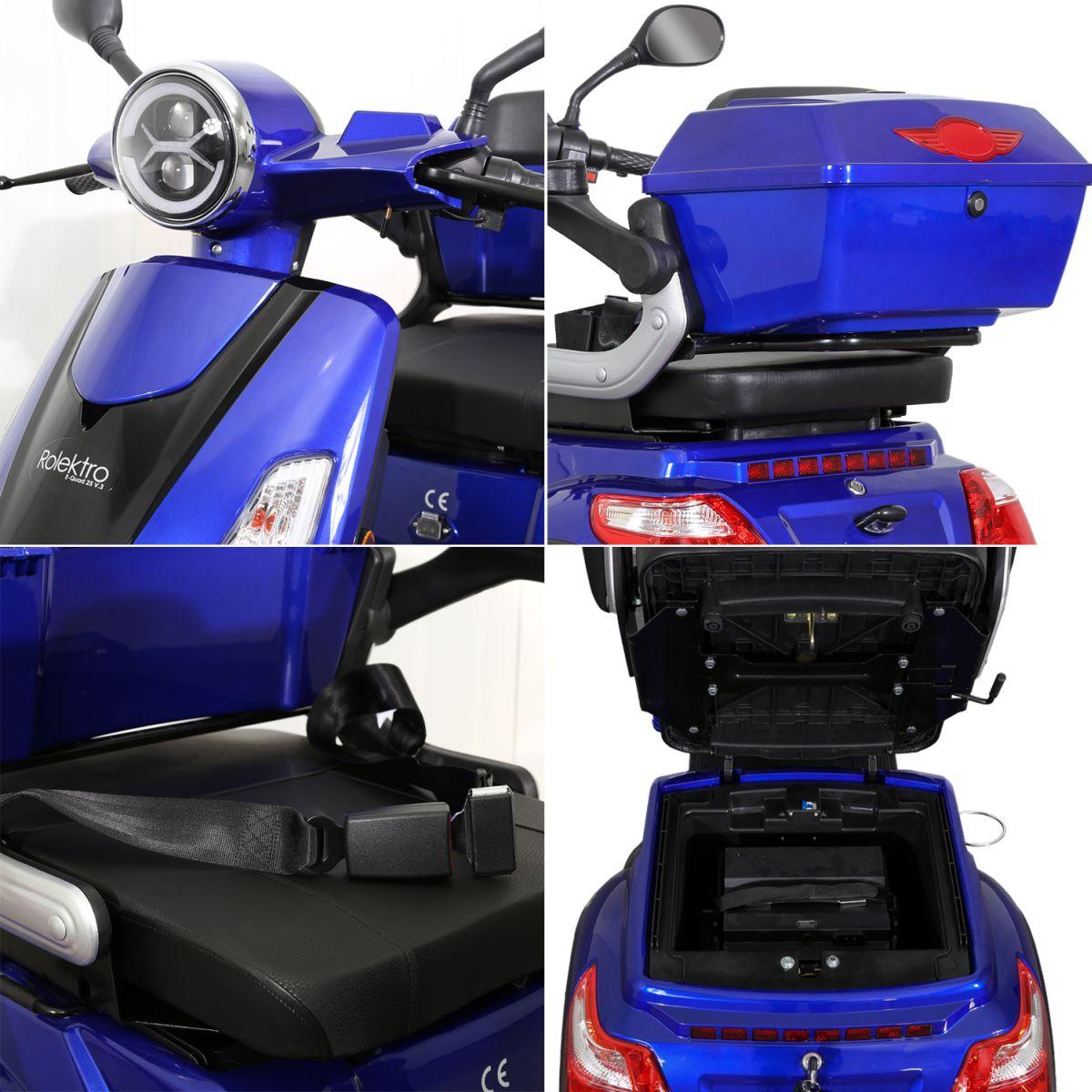 Seniorenmobil Elektromobil Elektroroller Rolektro Quad 25BG blau Bild 9
